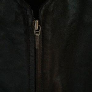 Apt. 9 Jackets & Coats - Apt. 9 lambskin leather zipper front vest L black